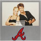 """Atlanta Braves 4"""" x 6"""" Aluminum Picture Frame"""
