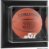 """""""Utah Jazz Black Framed Wall-Mounted Team Logo Basketball Display Case"""""""