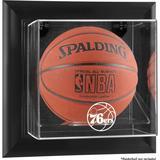 """Philadelphia 76ers Black Framed Wall-Mounted Team Logo Basketball Display Case"""