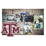 """Texas A&M Aggies 11"""" x 19"""" I Love My Family Clip Photo Frame"""