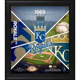 """""""Kansas City Royals Framed 15"""""""" x 17"""""""" Team Impact Collage with a Piece of Game-Used Baseball - Limited Edition 500"""""""