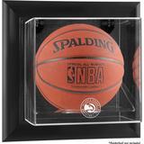 """Atlanta Hawks Framed Black Wall-Mounted Team Logo Basketball Display Case"""