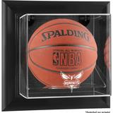 """Charlotte Hornets Black Framed Wall-Mounted Team Logo Basketball Display Case"""