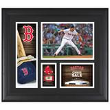 """""""Chris Sale Boston Red Sox Framed 15"""""""" x 17"""""""" Player Collage with a Piece of Game-Used Baseball"""""""