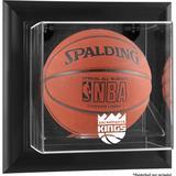 """Sacramento Kings Black Framed Wall-Mounted Team Logo Basketball Display Case"""