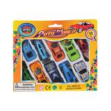 Constructive Playthings - 10-Piece Toy Car Set