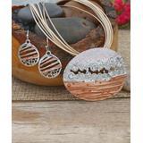 BeSheek Women's Earrings Silver - Silvertone Layered Beauty Pendant Necklace & Drop Earrings