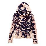 Gi Gi Girl Girls' Sweatshirts and Hoodies NAVYCOMBO - Navy Animal Print Pullover Hoodie - Girls
