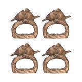 Established 98 Napkin Rings - Bird Napkin Ring - Set of Four