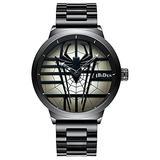 Men's Quartz Watch Fashion Spider Dial Cool Men's Quartz Watch Luxury Brand Japan Sports Unique Watch (Black)