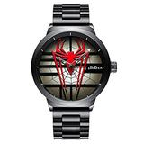 Men's Quartz Watch Fashion Spider Dial Cool Men's Quartz Watch Luxury Brand Japan Sports Unique Watch (Red)