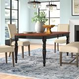 Three Posts™ Itchington Butterfly Leaf Rubberwood Dining Table Wood in Black, Size 29.75 H in | Wayfair D06E70F45AE848868CE72A8B66A46106