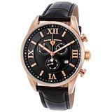 Swiss Legend Men's Bellezza Stainless Steel Swiss-Quartz Watch with Leather Calfskin Strap, Black, 21 (Model: 22011-RG-01-BLK)