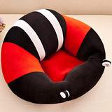 CTlite Infant Sitting Chair Floor Nursery Support Seat Pillow Protector Plush Cushion Toy Baby Sofa for Newborn Baby Toldder Kids Children (Black)