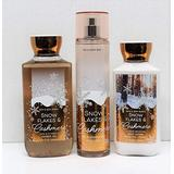 Bath and Body Works Snowflakes & Cashmere Shower Gel, Body Lotion, Fine Fragrance Mist Daily Trio 2018