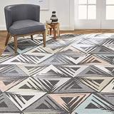 "Home Dynamix Area Rug, 3'11""x5'4"" Rectangle, Charcoal/Ivory"