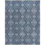 Lauren Ralph Lauren Isabella Geometric Handmade Tufted Wool/Cotton Indigo Area Rug Cotton/Wool in Blue/Brown, Size 108.0 W x 0.4 D in | Wayfair
