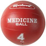 Markwort Rubber Medicine Ball, 8.8-Pound, Red