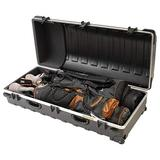 SKB Cases Double ATA Standard Hard Plastic Storage Wheeled Golf Bag Travel Case