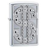Zippo Swarovski Bling Brushed Chrome Emblem Pocket Lighter