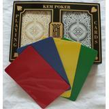 2 Free Cut Cards + KEM Arrow Black Gold Playing Cards Poker Size Jumbo Index