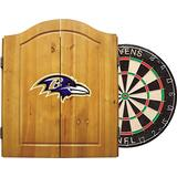 """Imperial Officially Licensed NFL Merchandise: Dart Cabinet Set with Steel Tip Bristle Dartboard and Darts, Baltimore Ravens , 23.25"""" L x 22"""" W x 4"""" D"""