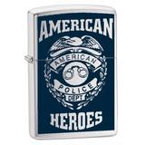 Zippo Lighter American Hero Police, Street Chrome