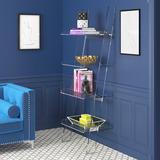 Etta Avenue™ Kelsie Ladder Bookcase Plastic, Size 72.25 H x 24.5 W x 18.0 D in   Wayfair A7DA2F118B404C57954E5D15C2313047