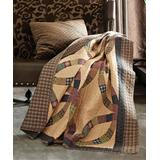 Duke Imports, Inc. Throws PRINT - Yellow Wedding Ring Quilted Throw