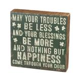 Primitives by Kathy Block Signs - 'May Your Blessings' Block Sign