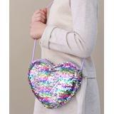Whitney Elizabeth Girls' Handbags pastel - Pastel Reversible Sequin Heart Crossbody Bag - Girls