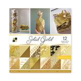DCWV Scrapbooks - Solid Gold Foil Double-Sided 36-Piece Craft Paper Set