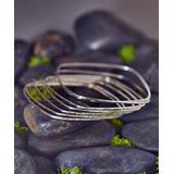 Urban Silver Women's Bracelets SILVER - Sterling Silver Square Bangle
