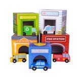Imagination Generation Toy Block Sets multiple - Little City Match 'n Stack Nesting Block & Car Set
