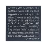Sara's Signs Typography Wall Decor black - Black 'When I Grew Up' Wall Sign