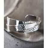 Moda Designs Women's Bracelets Silver - Silver-Plated Hammered Layer Cuff