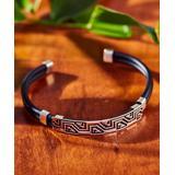 Urban Silver Women's Bracelets RUBBER - Sterling Silver Geometric Cuff