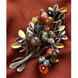 BeSheek Women's Brooches and Pins - Agate & Two-Tone Bouquet Brooch