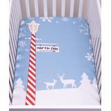 Trend Lab Crib Sheets Blue, - North Pole Fitted Crib Sheet