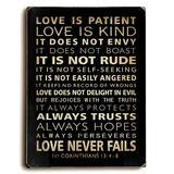 ArteHouse Canvases Multi - Nancy Anderson 'Love is Patient' Wood Wall Sign
