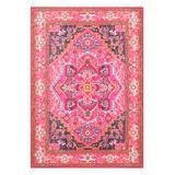 nuLOOM Indoor Rugs Violet - Pink Arabesque Cordie Rug
