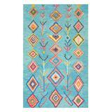 nuLOOM Indoor Rugs Turquoise - Turquoise Belini Wool-Blend Rug