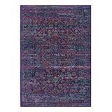 nuLOOM Indoor Rugs Purple - Navy & Fuschia Rima Rug