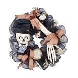 Transpac Wreaths - Glitter Skull Wreath