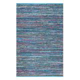 nuLOOM Indoor Rugs Blue - Blue Stripe Sabina Hand-Braided Rug