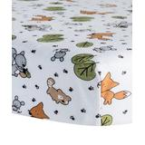 Trend Lab Crib Sheets Multi - Friendly Forest Deluxe Flannel Fitted Crib Sheet