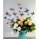 Ambiance Sticker Decals Blue - Blue Translucent Butterflies Decal Set