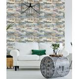 Ambiance Sticker Decals Multicolor - Gray & Tan Brick Wall Decal