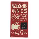 Sara's Signs Countdown Calendars Red - Red 'Naughty or Nice' Chalkboard Countdown Wall Sign
