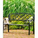 Plow & Hearth Patio Benches - Celtic-Knot Iron Garden Bench